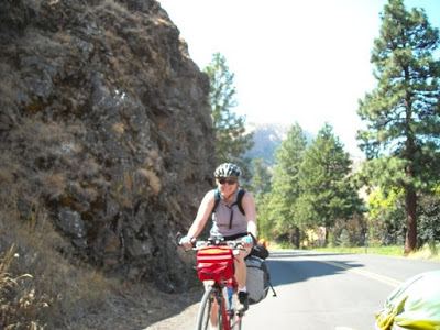 Lisa Biking at the Gorge